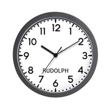 Rudolph Newsroom Wall Clock