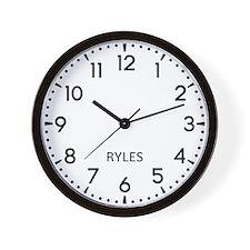 Ryles Newsroom Wall Clock