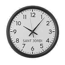 Sant Jordi Newsroom Large Wall Clock