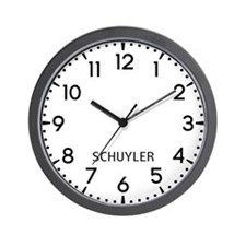 Schuyler Newsroom Wall Clock