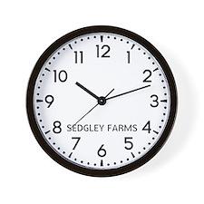 Sedgley Farms Newsroom Wall Clock
