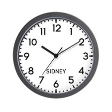 Sidney Newsroom Wall Clock