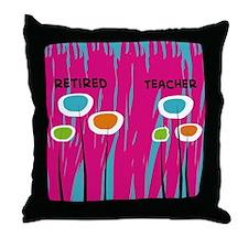 Retired Teacher FF 2 Throw Pillow