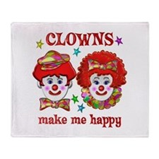 CLOWN Happy Throw Blanket