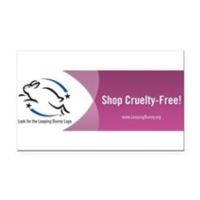 Cute Cruelty free Rectangle Car Magnet