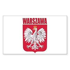Warszawa, Polska Rectangle Decal