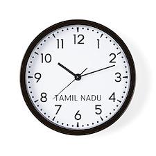 Tamil Nadu Newsroom Wall Clock
