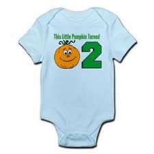 Little Pumpkin Turned Two Body Suit