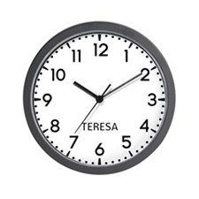 Teresa Newsroom Wall Clock