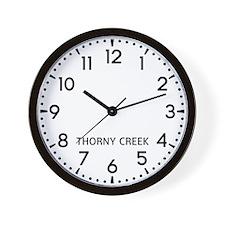 Thorny Creek Newsroom Wall Clock