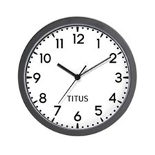 Titus Newsroom Wall Clock