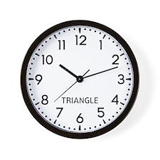 Triangle Newsroom Wall Clock