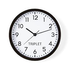 Triplet Newsroom Wall Clock