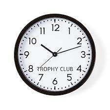 Trophy Club Newsroom Wall Clock