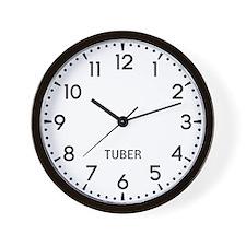 Tuber Newsroom Wall Clock