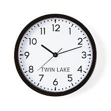 Twin Lake Newsroom Wall Clock
