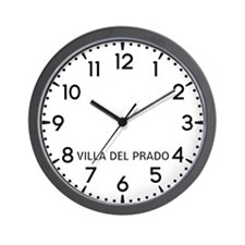 Villa Del Prado Newsroom Wall Clock