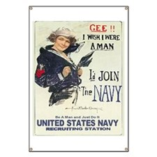 If I Were A Man, I'd Be Navy Banner