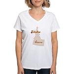 Udapimp Idaho Women's V-Neck T-Shirt