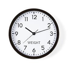 Weight Newsroom Wall Clock