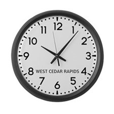 West Cedar Rapids Newsroom Large Wall Clock
