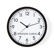 Windsor Farms Newsroom Wall Clock