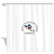 Real Pilots Shower Curtain