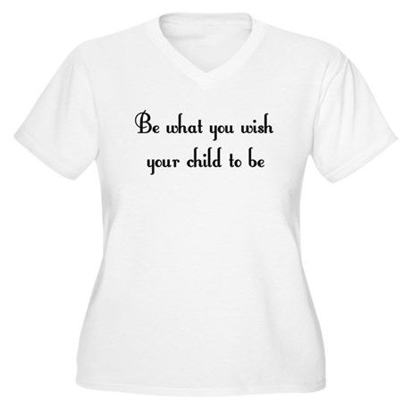 Be what you wish... Women's Plus Size V-Neck T-Shi