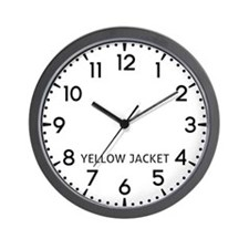 Yellow Jacket Newsroom Wall Clock