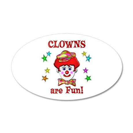 Clowns are Fun 20x12 Oval Wall Decal