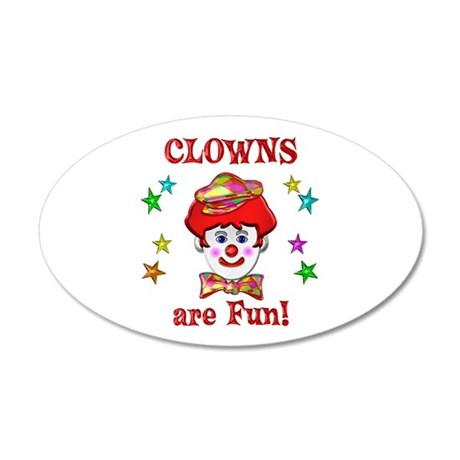 Clowns are Fun 35x21 Oval Wall Decal