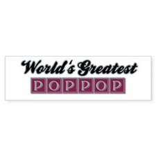 World's Greatest PopPop (2) Bumper Bumper Sticker