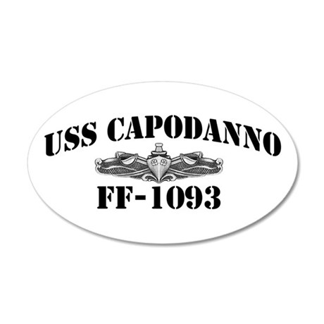 USS CAPODANNO 20x12 Oval Wall Decal