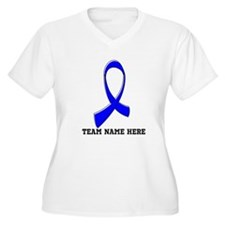 Team Name Anal Cancer Plus Size T-Shirt