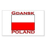 Gdansk, Poland Rectangle Decal