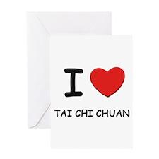 tai-chi-chuan Greeting Cards