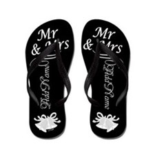 Mr And Mrs - Add Name Flip Flops
