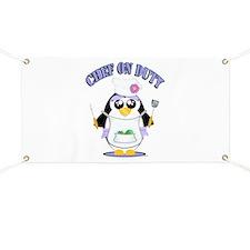 Chef on Duty Penguin female Banner