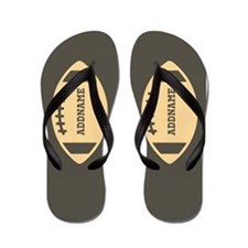 Custom Name Football Flip Flops