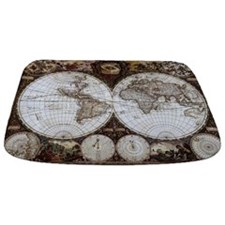 Ancient World Map Bathmat