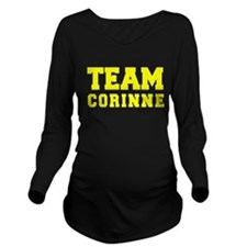 TEAM CORINNE Long Sleeve Maternity T-Shirt
