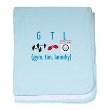 G T L (gym,tan,laundry) baby blanket