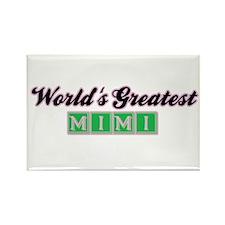 World's Greatest Mimi (2) Rectangle Magnet