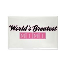 World's Greatest Mimi (1) Rectangle Magnet