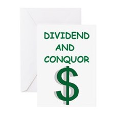 dividends Greeting Cards
