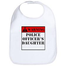 Warning Police Officers Daughter Bib
