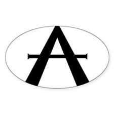 "Alchemical Symbol for ""AIR"" Oval Decal"