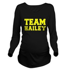 TEAM HAILEY Long Sleeve Maternity T-Shirt