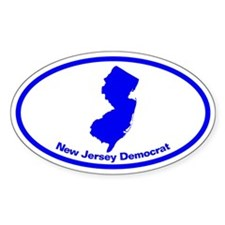 New Jersey BLUE STATE Oval Decal