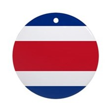 Costa Rica Flag Ornament (round)